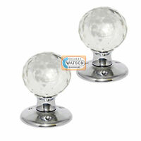Glass Mortice Door Knob Ball Handle Chrome Plated Backplate