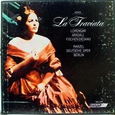 Maazel Lorengar Aragall Fischer-Dieskau - Verdi La Traviata 2 LP VG+ OSA 1279