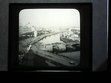 VINTAGE COLLECTIBLE GLASS PICTURE NEGATIVE Moskwa River and Spires Moscow Russia