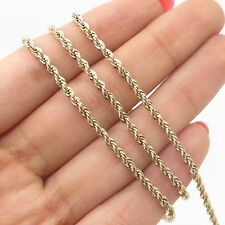 Danecraft  925 Sterling Silver Gold Plated Twisted Rope Chain Necklace 22""