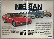 1985 NISSAN 300ZX 2-page advertisement, ad older Datsun cars 1000 2000 Roadster