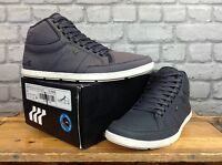 BOXFRESH MENS UK 8 EU 42 NAVY SWAPP BLOK CANVAS HIGH TOP TRAINERS RRP £100