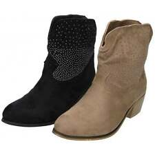 Textured Pull On Cowboy, Western Boots for Women