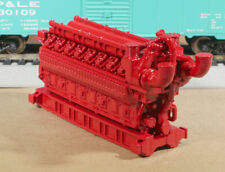 HO Scale 5000HP 16 Cylinder Industrial Natural Gas Engine Model GLOSS RED