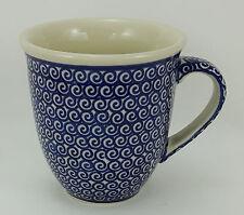 Bunzlauer Keramik Tasse MARS Maxi - Becher - blau/weiß - 0,43 Liter, (K106-63)