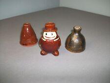3 Mini Redware Pcs - 2 Inkwells 1 Bottles - Signed Eby 1977, 2001, Japan 4 208