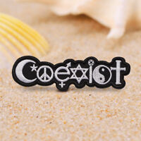 Coexist Taiji Embroidered Sew On Iron On Badge Patch Fabric DIY Craft Transfer