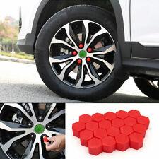 20x Red Car Truck Wheel Tyre Hub Screw Bolt Nut 19mm Plastic Cap Accessories