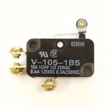 Omron V-105-1B5 Snap Action Switch, Short hinge roller lever, 10A
