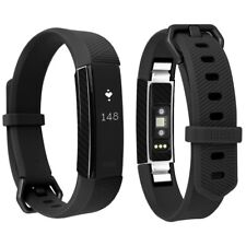 Skinomi Black Carbon Fiber Skin+Clear Screen Protector for Fitbit Alta HR