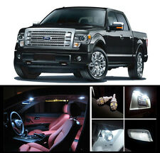 2010 - 2014 Ford F-150 F-250 F-350 Premium White LED Interior Package (11Pieces)
