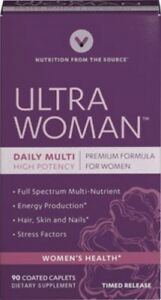 Ultra Woman Premium Multi-Vitamin Formula - 180 Time Release Caplets