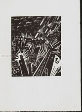 FRANS MASEREEL - SCENES FROM IN AND ABOUT HAMBURG * RARE ORIGINAL WOODCUT 1964