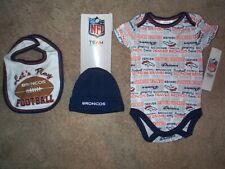 Denver Broncos nfl INFANT BABY NEWBORN Jersey Hat & Bib Set 0-3M 0-3 Months