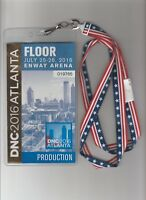 House of Cards Screen Used Prop 2016 DNC Production Floor Pass W/ Lanyard