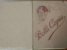 Vecchio quaderno scolastico scuola epoca BELLA COPIA SUNTI DELLA DIVINA COMMEDIA