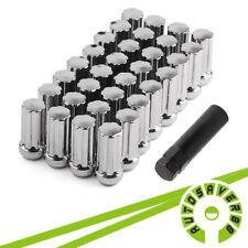 32 Chrome Spline Lug Nuts + Key   14X1.5   8x6.5   for Dodge RAM Chevy 2500 3500