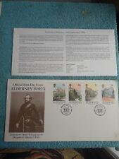 Enveloppe Premier Jour FDC Alderney Forts Lieutenant Colonel William Jervois