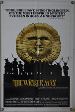 THE WICKER MAN FF ORIG 1SH MOVIE POSTER CHRISTOPHER LEE CULT HORROR RR (1973)