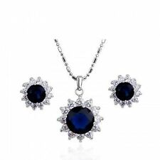 White Gold Plated Blue Fashion Jewellery Sets