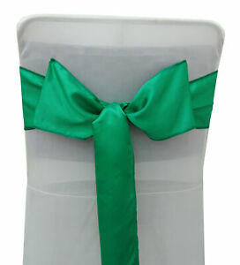 Darling Souvenir Pack Of 10 Satin Bow Sash For Wedding Chair Cover Sash-DS-RN-19