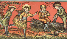SOLAR TIP SHOES TRADE CARD, VICTORIAN CHILDREN PLAYING, HGHI BUTTON SHOES  TC720