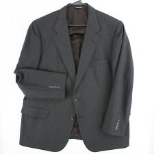 KILGOUR FRENCH STANBURY BARNEY'S NY Vtg 90s Gray Pinstriped Wool Suit Jacket 48R