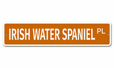 "6352 Ss Irish Water Spaniel 4"" x 18"" Novelty Street Sign Aluminum"