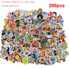 200x Cartoon Graffiti autocollant Sticker pr voiture Moto Velo Skateboard bagage