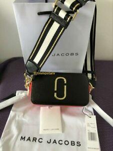 Brand new MARC JACOBS Snapshot Small Camera Bag Black red bag sales