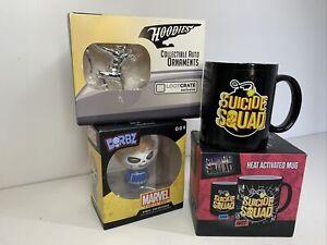 DC Comics & Marvel Bundle Ghost Rider Dorbz Arrow Hoodies & Suicide Squad Mug