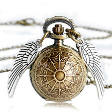 Gift Pendant Necklace Steampunk Quidditch Wings Harry Potter Snitch Pocket Watch