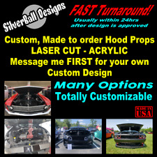 Custom Car Show Hood Prop - Laser Cut Acrylic  - Car Truck JDM Mopar Hot Rod