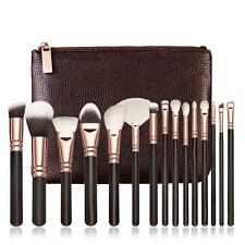 15 PCS Pro Makeup Brushes Set Beauty Cosmetic Complete Eye Kit + Leather Case D1
