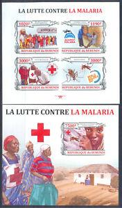 Burundi 2013 Red Cross. Malaria, m/sheet + s/sh. IMP. MNH