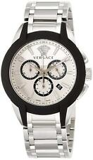 VERSACE VEM800118 Quartz Character Chrono White Dial Men's Watch EMS w/ Tracking