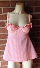 Victoria's Secret SEXY LITTLE THINGS Sailor Girl Seersucker Bra Cami Peach 34C