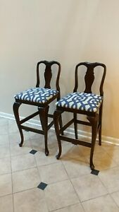 HICKORY Manufacturing Co Queen Anne style Bar Stools Kelly Wearstler TRELLIS