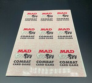 MAD Magazine 1994 Promo SPY vs. SPY Combat Card Game UNCUT COMPLETE