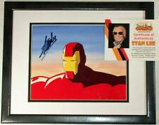 IRON MAN Hand Painted Original PRODUCTION cel hand signed STAN LEE NEW  Frame