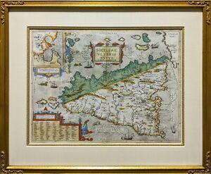 Ortelius Map: Ancient Sicily c.1600