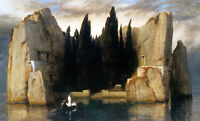 Framed Print - Isle of the Dead by Arnold Bocklin (Antique Picture Vintage Art)