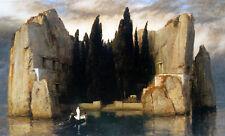 Enmarcado impresión-Isla de los muertos por Arnold Bocklin (Antiguo Arte Vintage Foto)