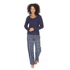 Womens/Ladies Long/Short Sleeve Top Pyjamas Pyjama PJ Nightwear Set Size 8-22
