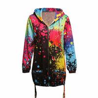 Women Ladies Fashion Long Sleeve Bodycon Cardigan With Zipper Warn Fleece Hooded
