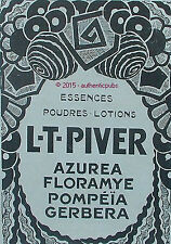 PUBLICITE PARFUM L.T. PIVER AZUREA FLORAMYE POMPEIA GERBERA DE 1924 FRENCH AD