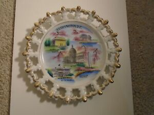 Vintage Silberne Products Japanese Porcelain WASHINGTON DC Souvenir Plate NICE!!