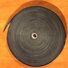 Black Polypropylene Nylon Webbing/ Belting Craft Strapping 18mm Wide - 60m roll!