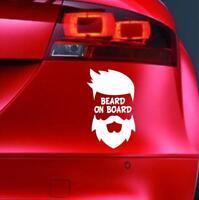 BEARD ON BOARD Sticker Funny Car JDM 4x4 Window Bumper VAN Novelty Vinyl Decal