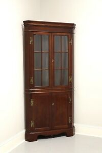 CRAFTIQUE Solid Mahogany Chippendale Style Corner Cupboard